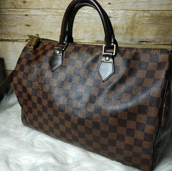 399ea4ad91 Louis Vuitton Handbags - LV Damier Ebene Speedy Bandouliere 35  163716